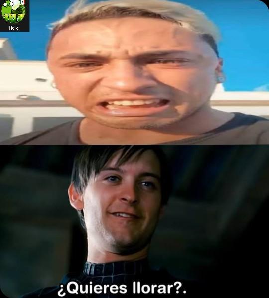 Quiere llorar - meme