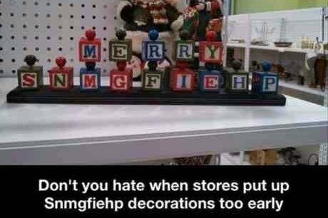 Stop premature decorating! - meme