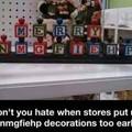 Stop premature decorating!