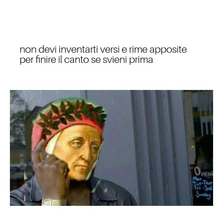 divina commedia style - meme