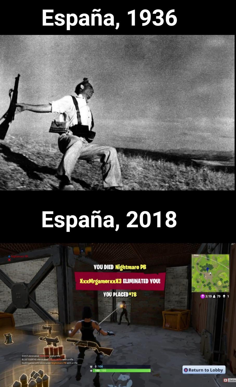 La guerra, la guerra nunca cambia... - meme
