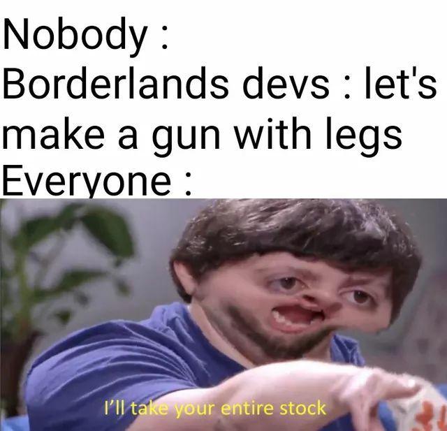 Cara, armas com pernas! - meme