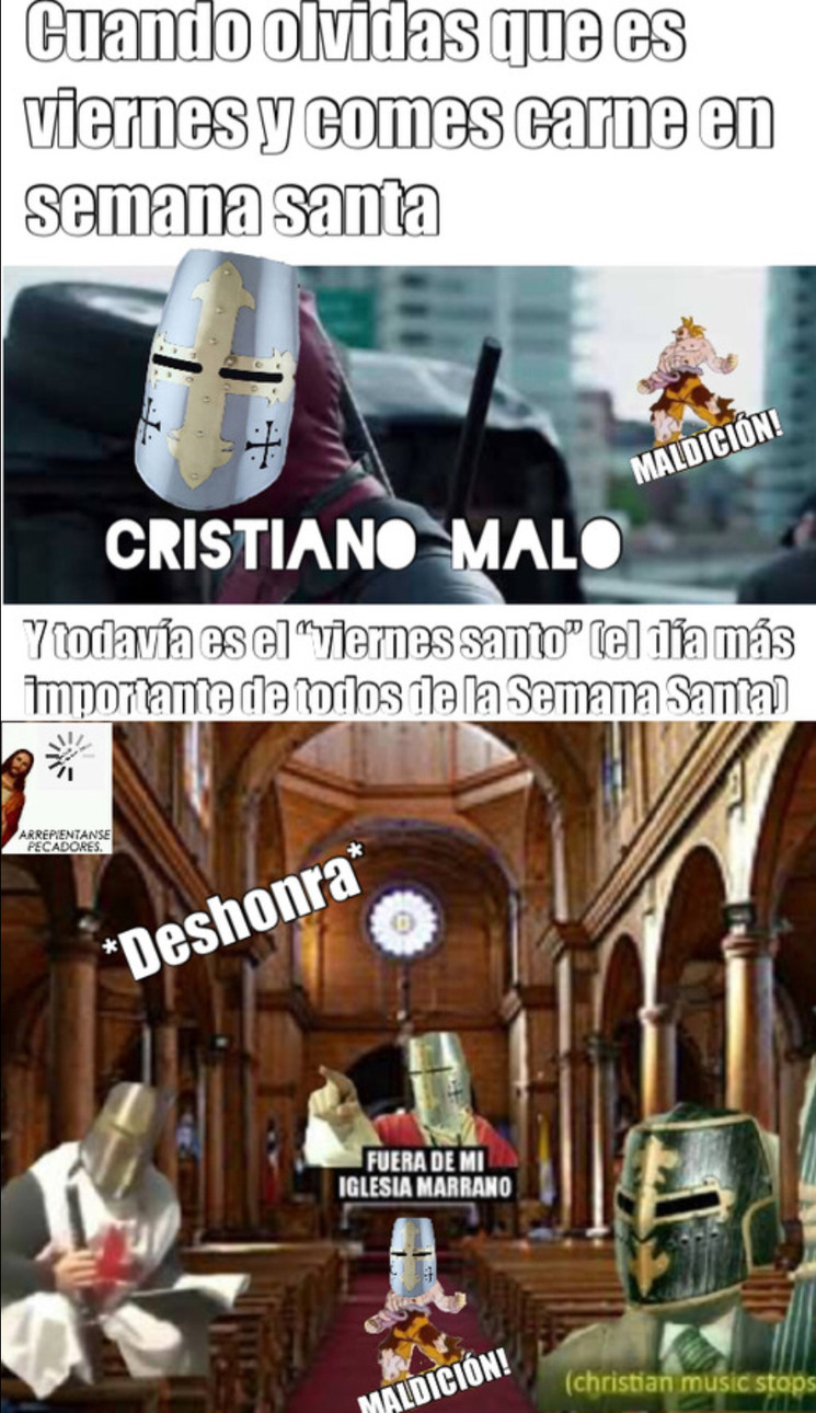 Cristianos - meme