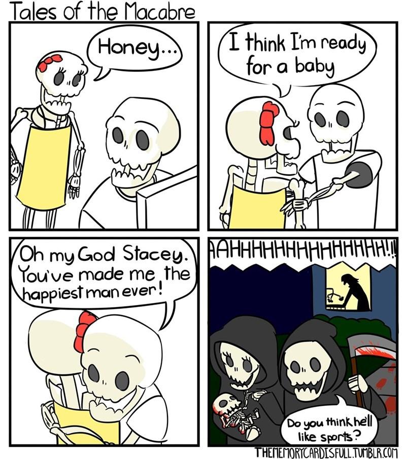 Baby dead. - meme