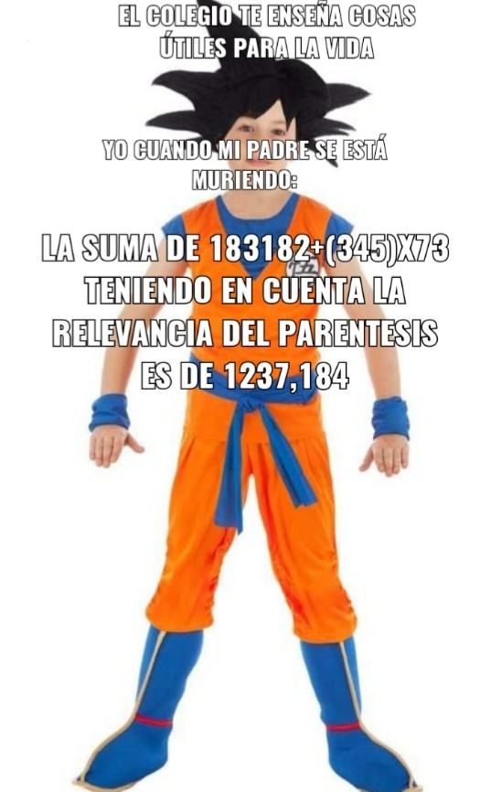 Goku y las mates qlias - meme