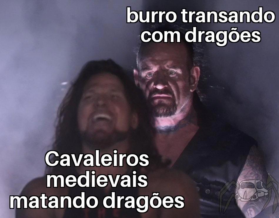 Burro comedor de dragões - meme
