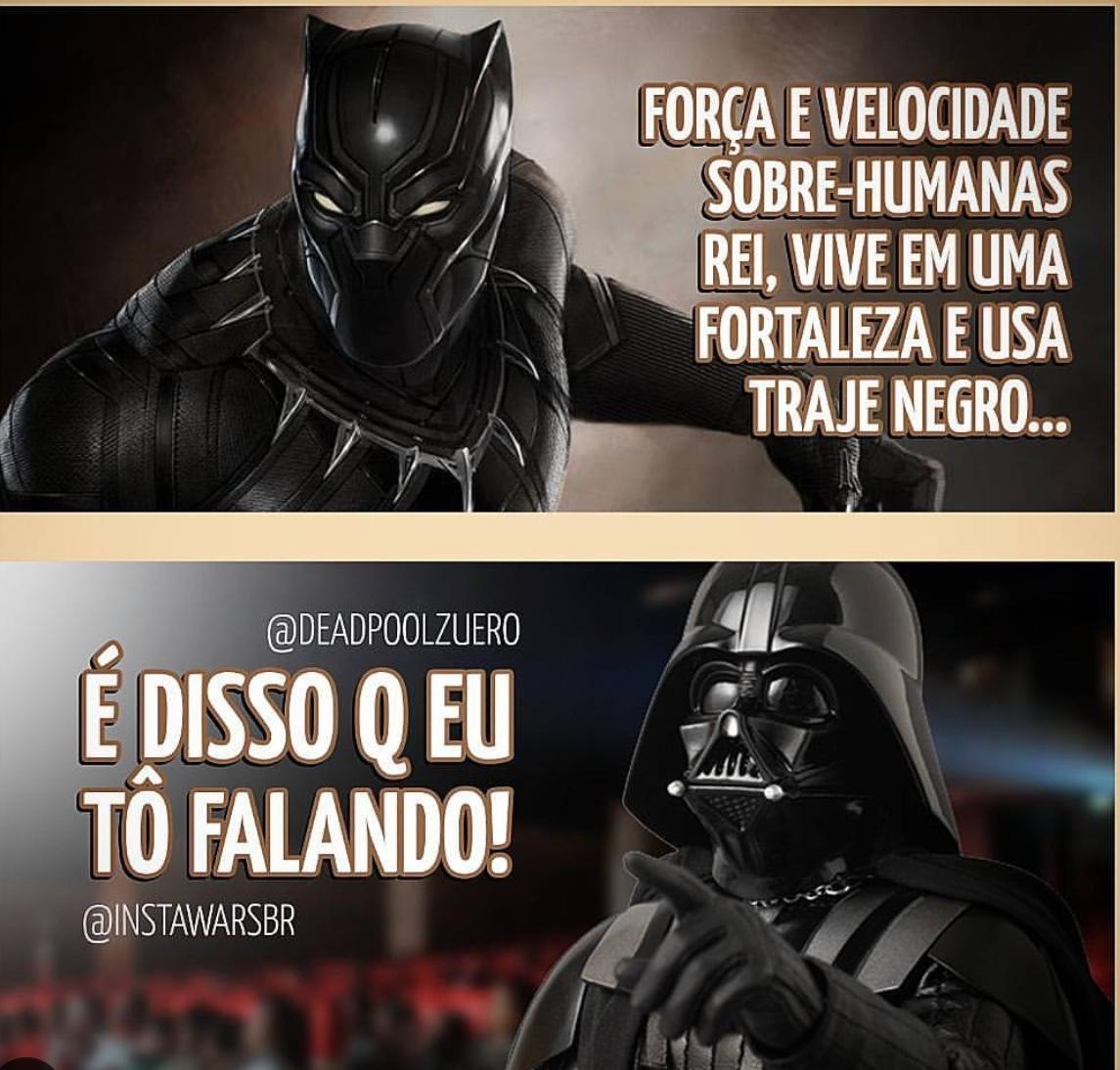 o Darth e o Pantera são fodas - meme