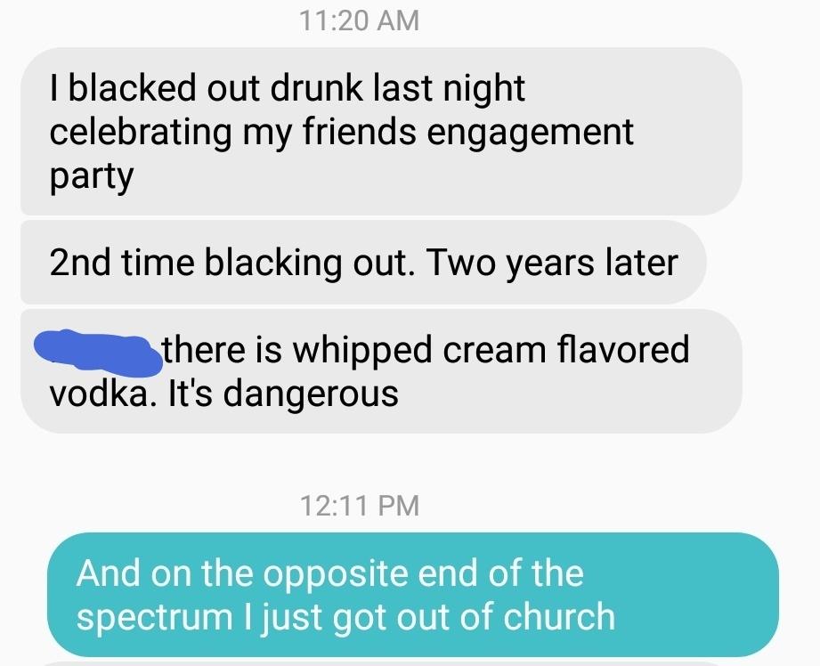 The church message was good - meme