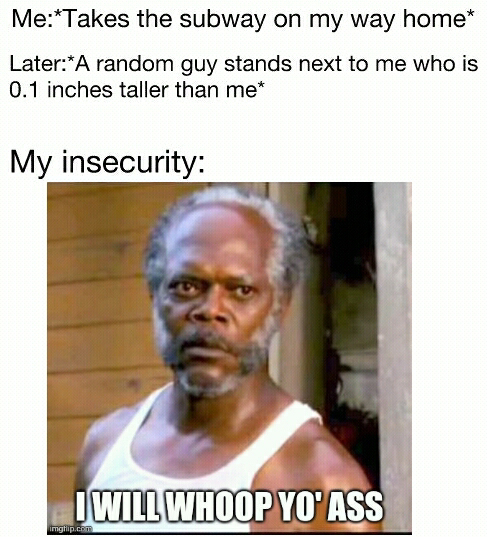 Insecurity be like... - meme