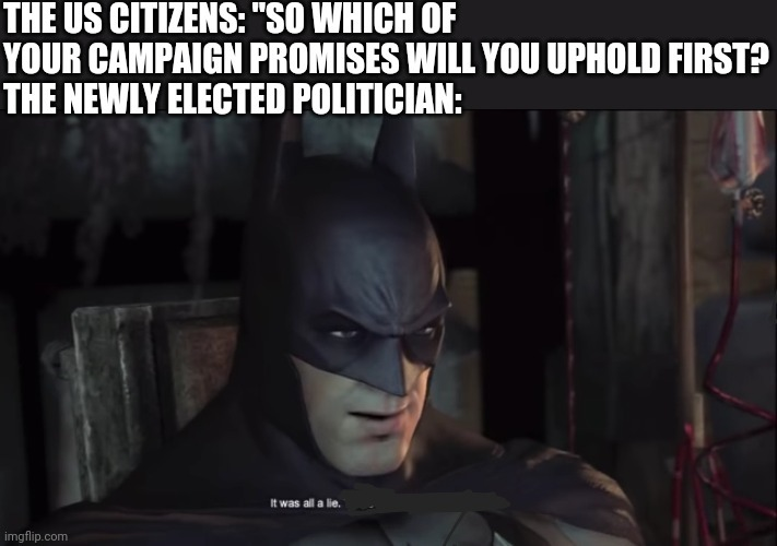 Campaign man bad. - meme