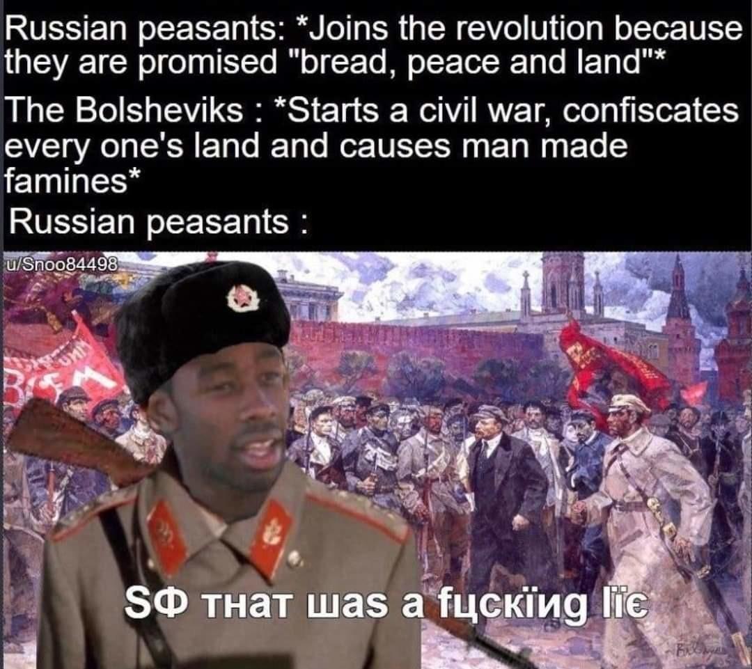 The beginning of Soviet Russia - meme