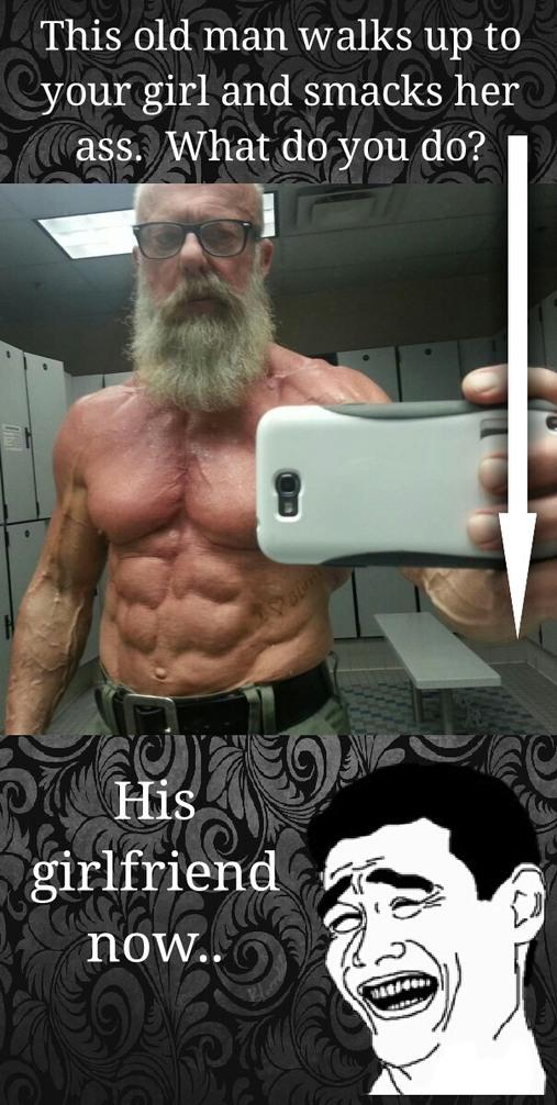 Granpa viking coming for ur booty - meme
