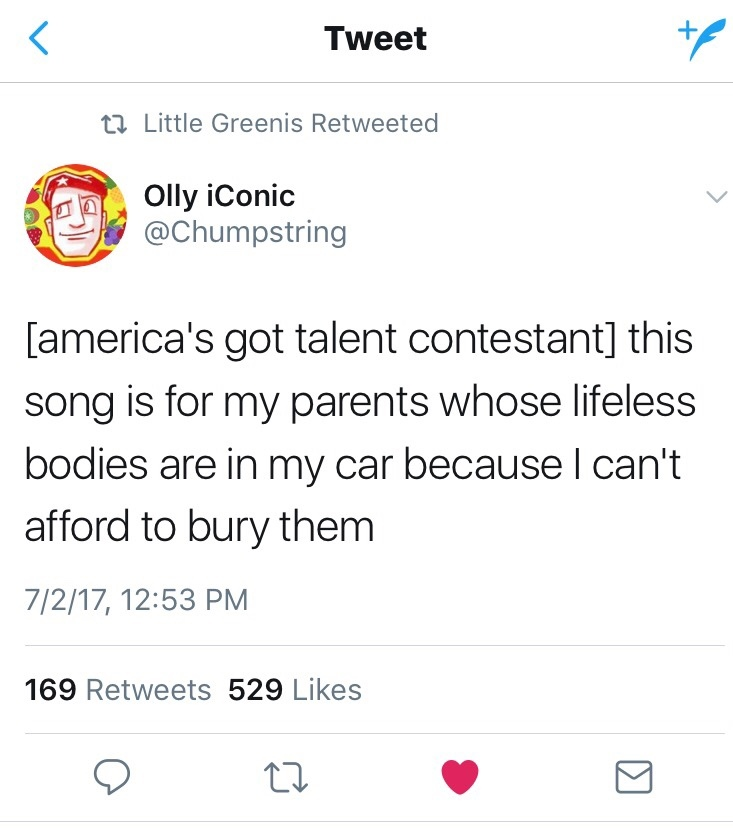 America's got a sob story - meme