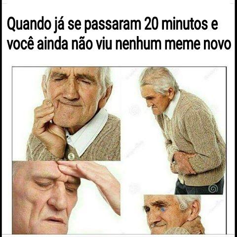 Um meme novo de uma pessoa velha