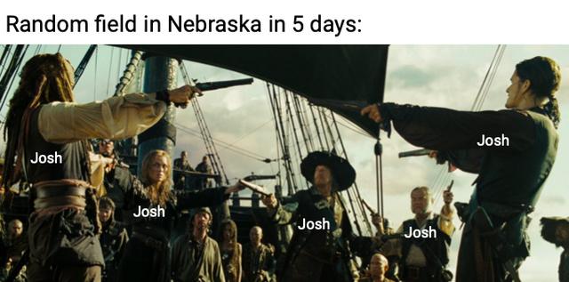 Random field in Nebraska in 5 days - meme