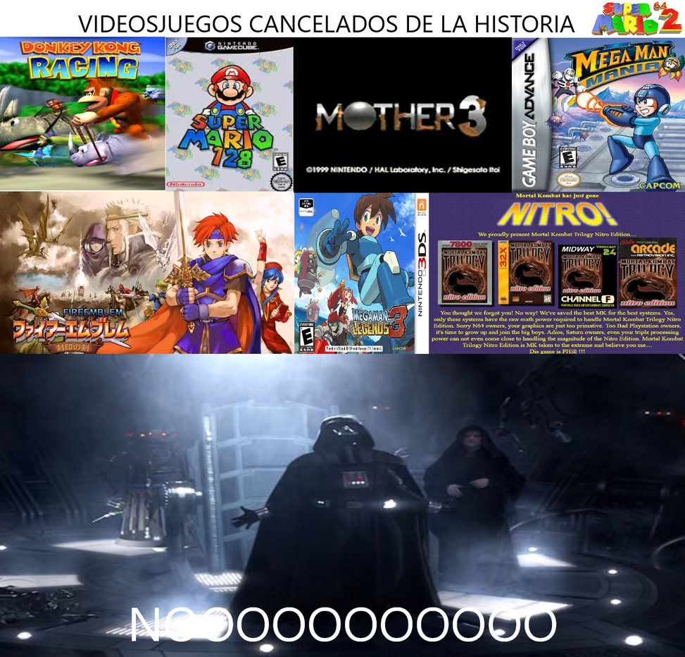 VIDEOSJUEGOS CANCELADOS DE LA HISTORIA - meme