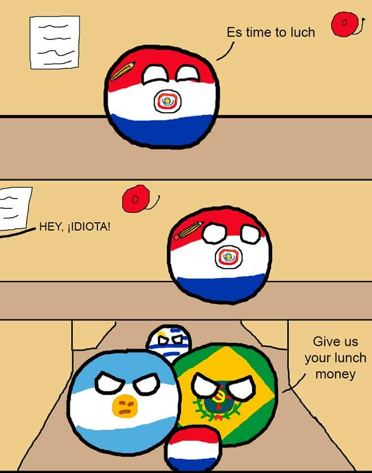 Guerra do Paraguai para os Paraguaios - meme