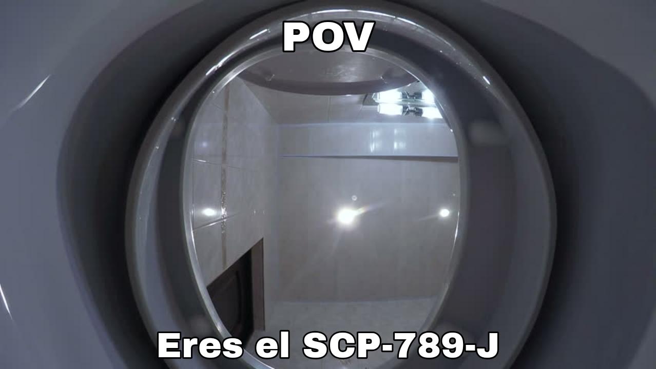 Contexto: el SCP-789-J es una cara dentro de un excusado. Fin del contexto - meme
