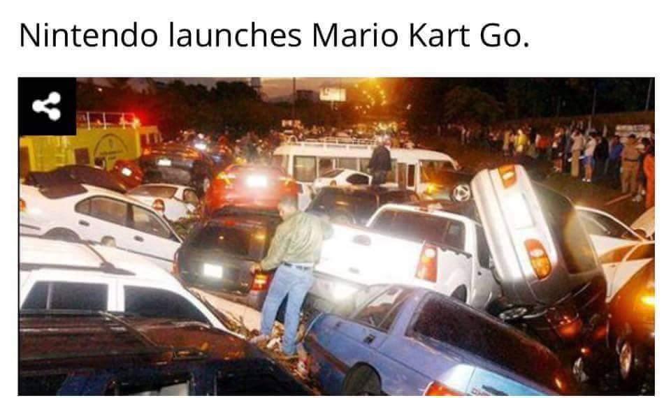 Mario Kart Go Go Go - meme