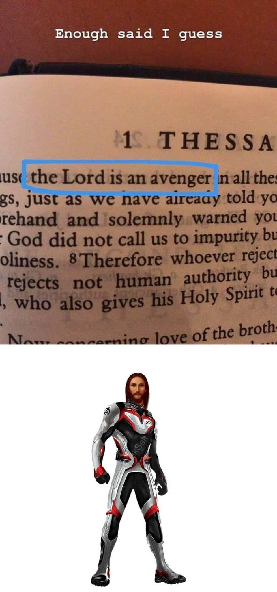 The first real Avenger! - meme