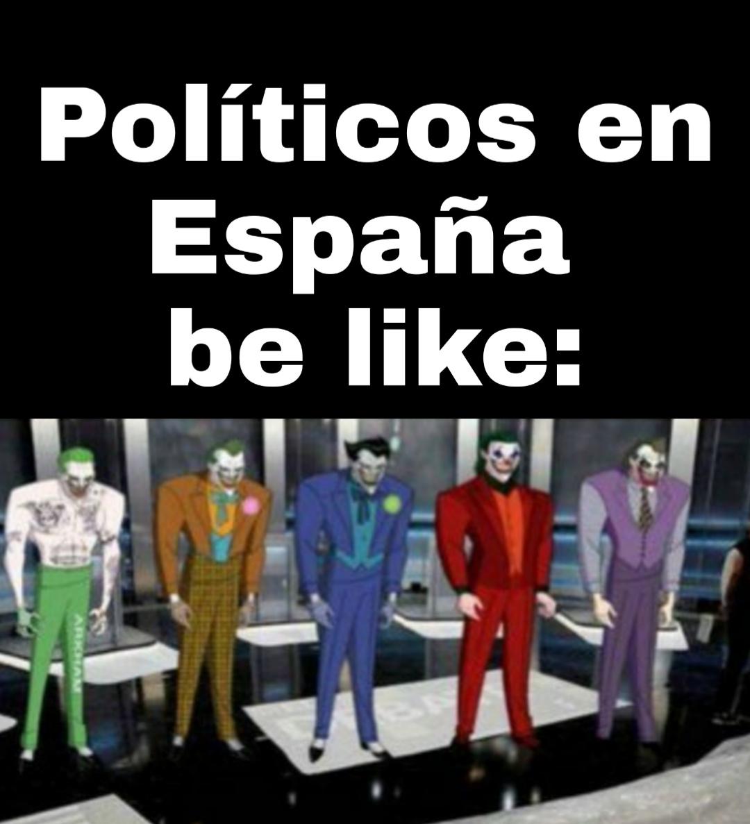 Políticos putos - meme