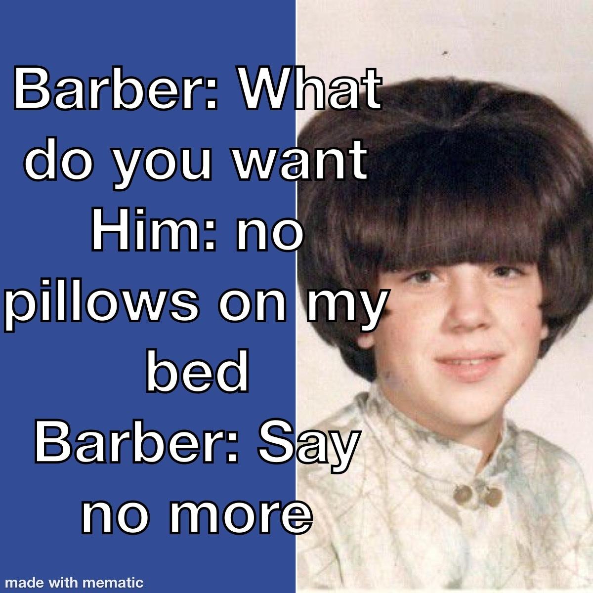 Barber hacks - meme