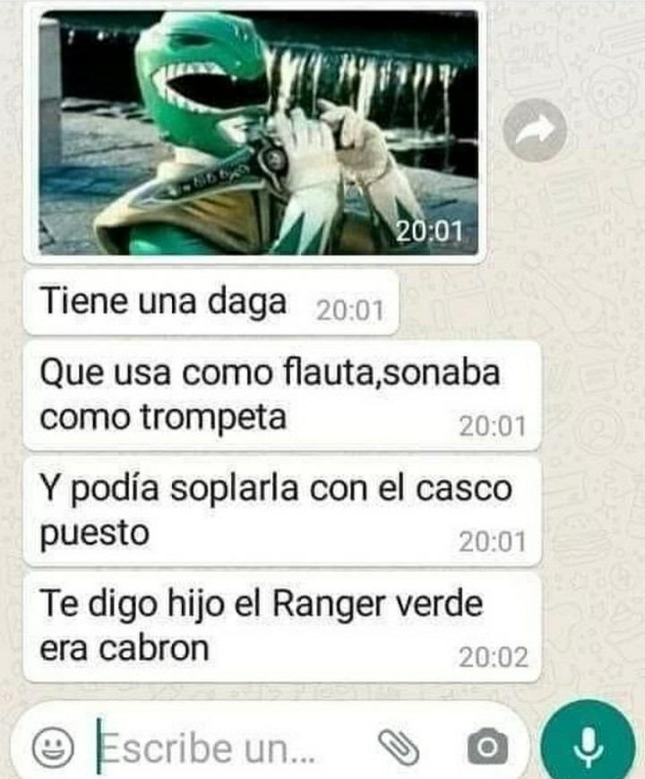 Esta mamon el power ranger - meme