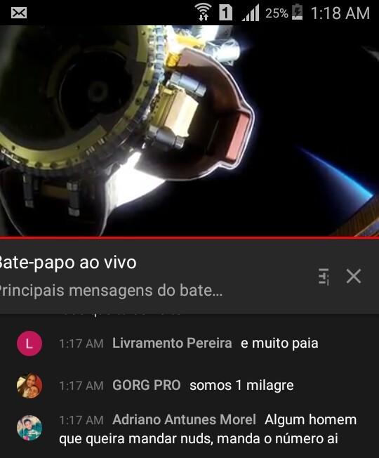 Live da NASA e encontro essa pérola - meme