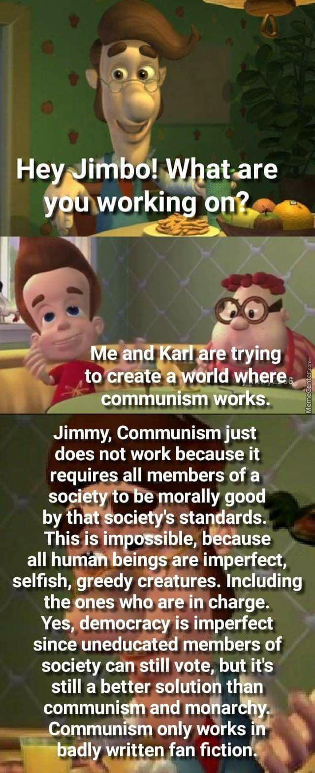 Communism is unrealistic - meme