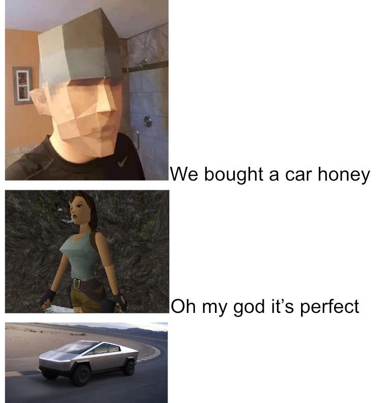 freaking Tesla car - meme