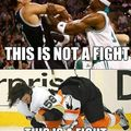 Hockey fights vs Basketball fights