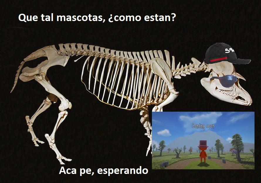 Eso es el esqueleto de un tapir. PD: Aun no llega el ST Worlds - meme