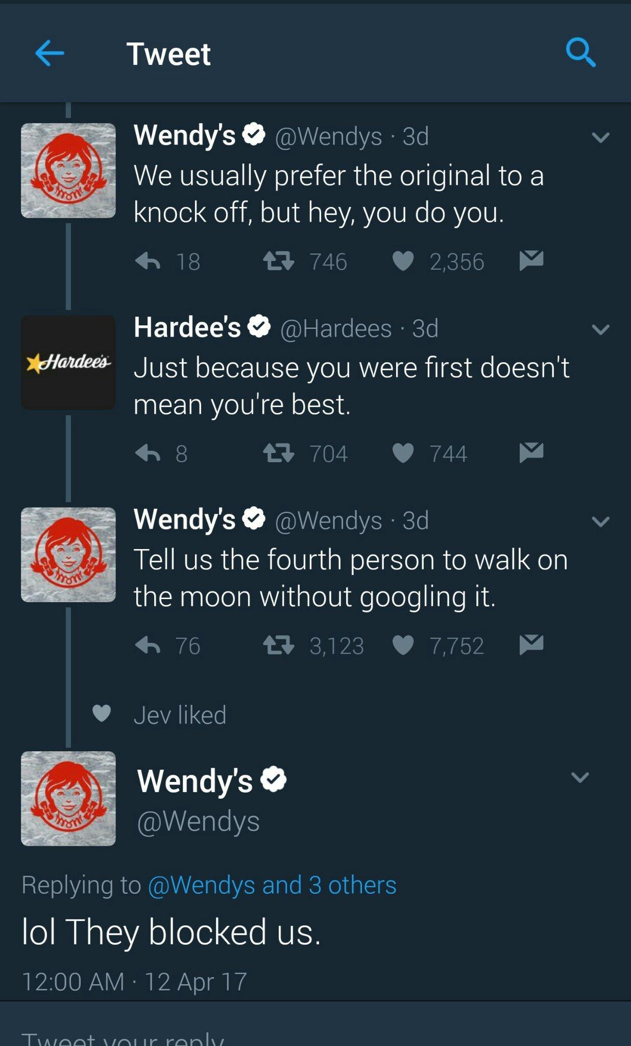 Wendys is savage - meme