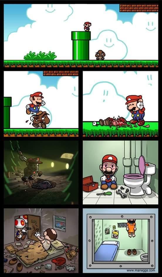 Mario fragile - meme
