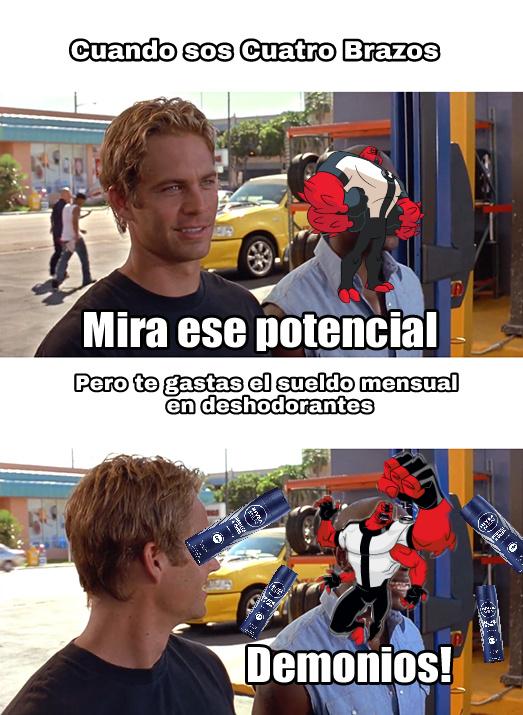 AGUANTE EL BEN 10, LO LA PORONGA QUE TENEMOS AHORA CARTOON NETWORK CHOTO - meme