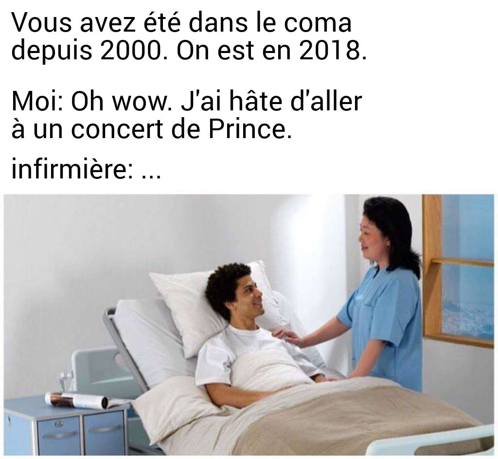 Même dans le coma faut se mettre à jour hein - meme