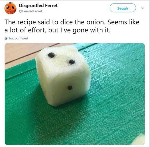 How to dice an onion - meme