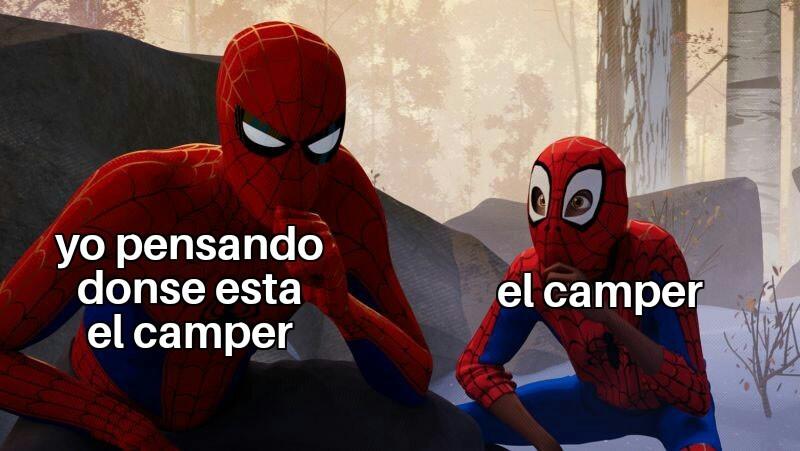 Malditos campers noobs - meme