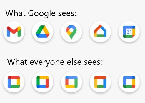 Fancy colored shapes - meme