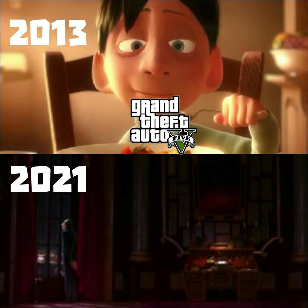 Tamo quase em 2022 e nada do gta6. - meme