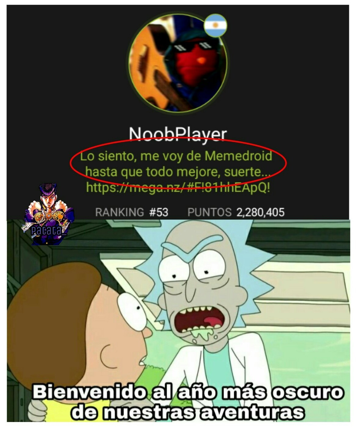 Mensaje oculto en la imagen de NoobPlayer - meme