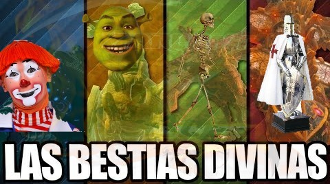 Las cuatro Bestias Divinas - meme