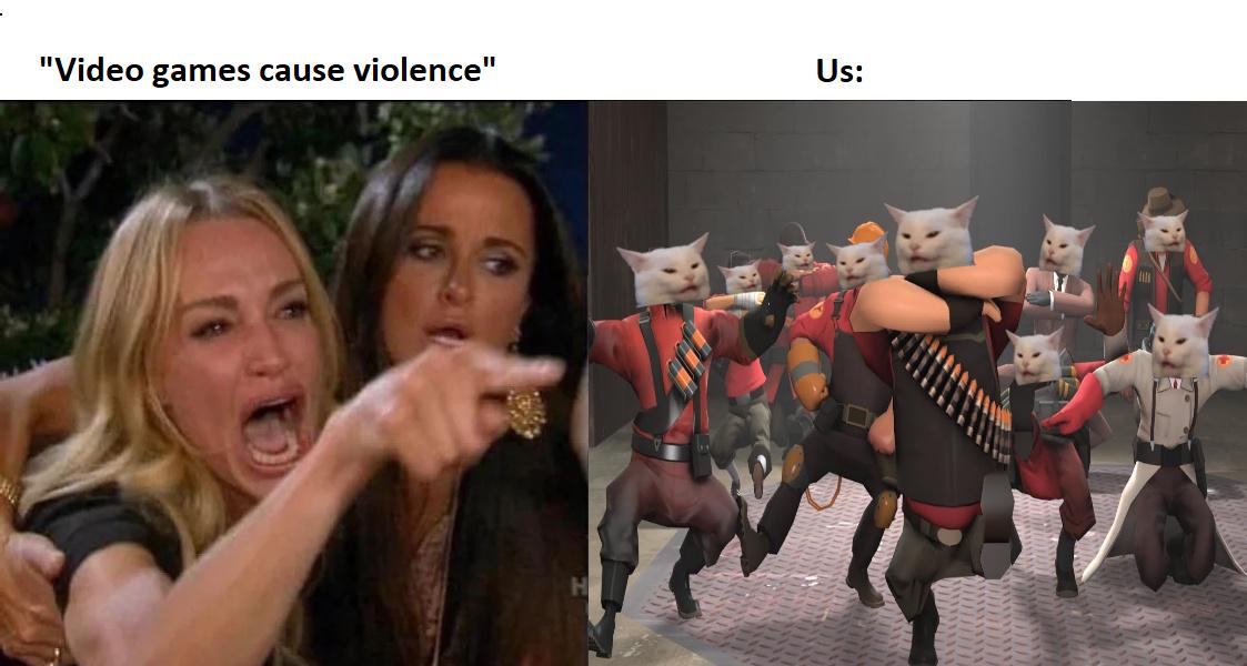vidrojogos causam violencia - meme