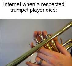 If you're a trumpet player tell me down below - meme