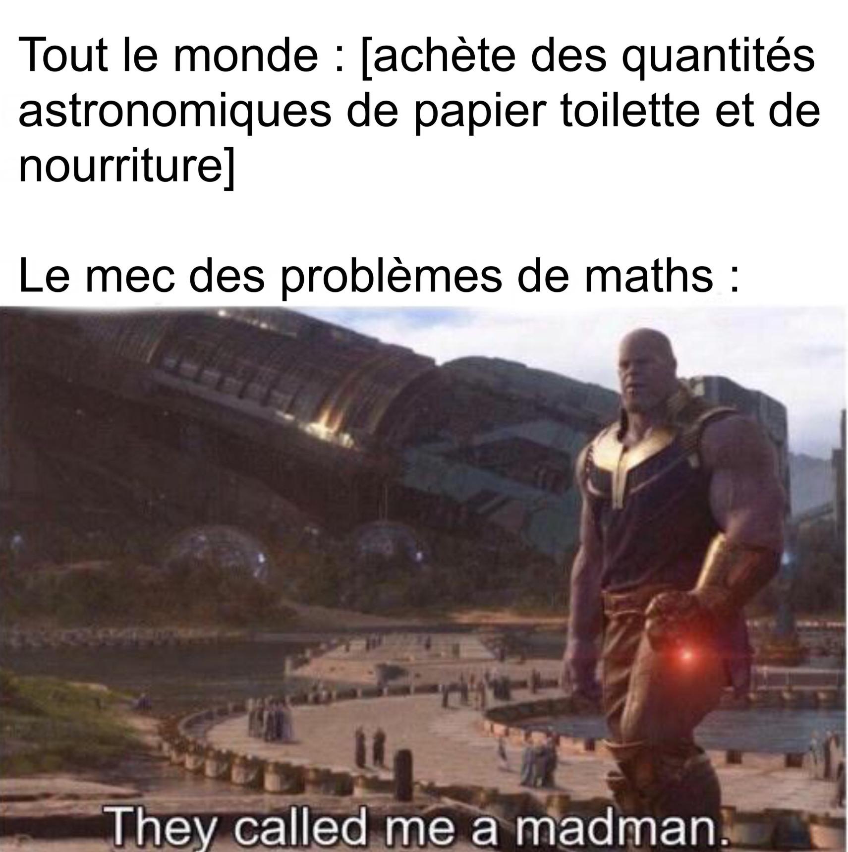 Thanos c'est le vilain emblématique de Marvel - meme