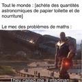 Thanos c'est le vilain emblématique de Marvel