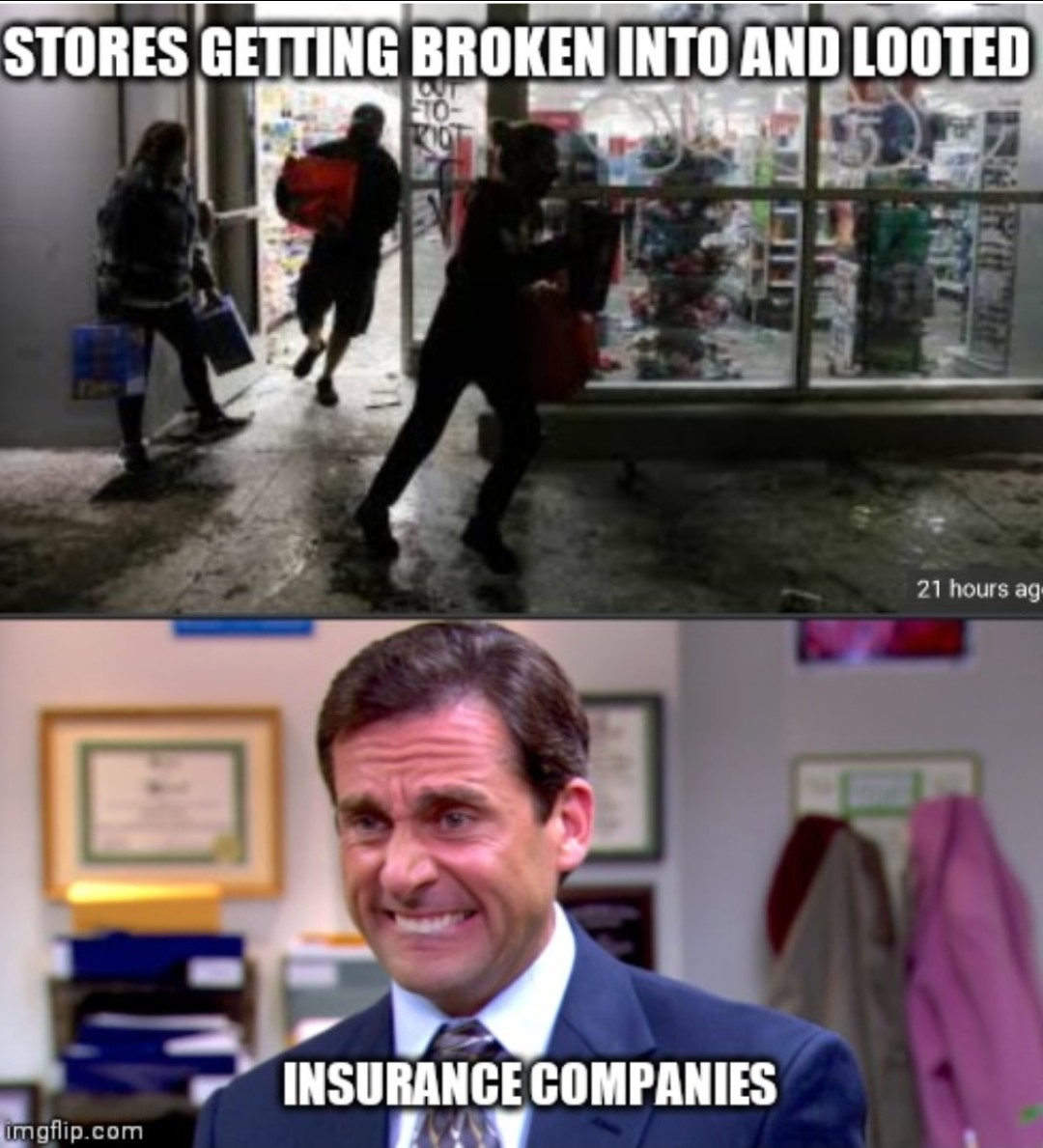 Insurance companies aren't gonna have a good year - meme