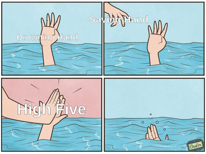 high five - meme