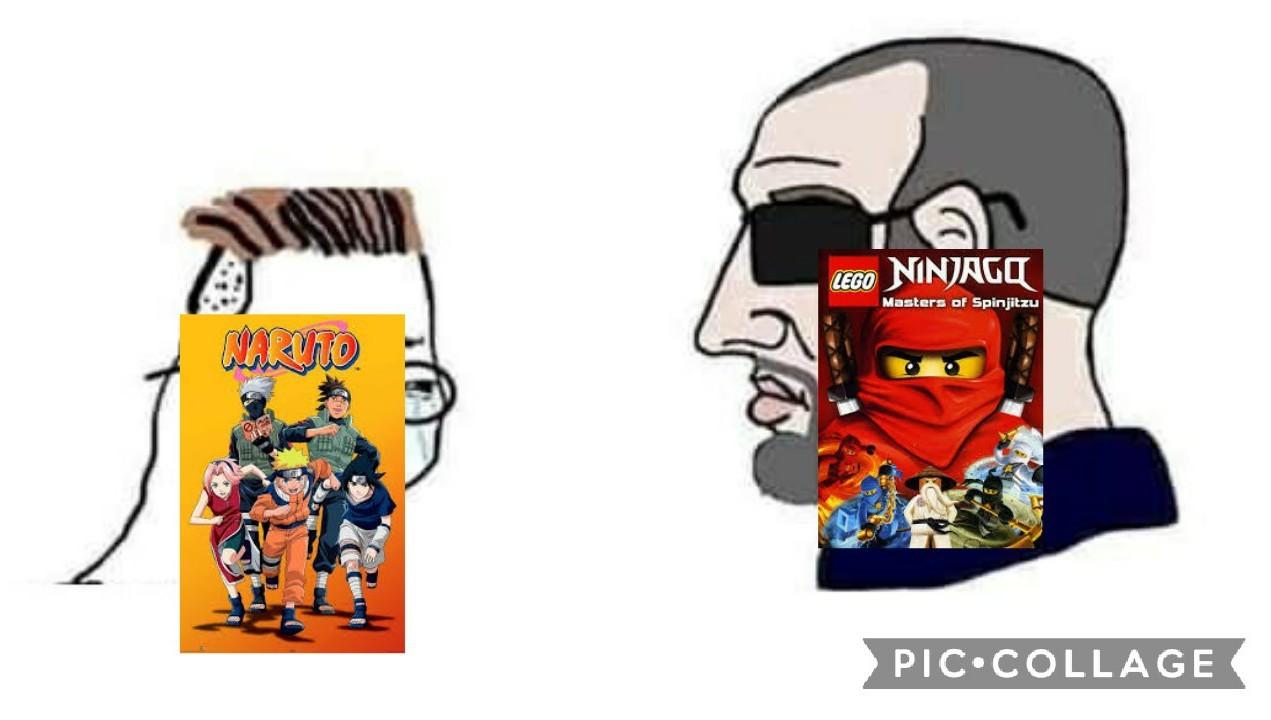 Naruto caca, Ninjago bueno - meme
