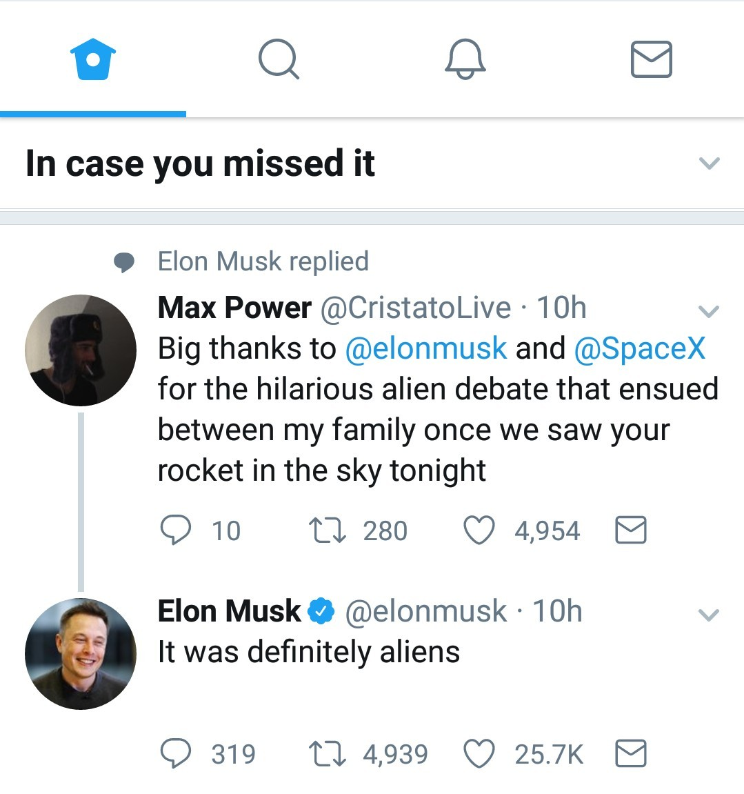 Elon Musk backing up my homie aliens xD - meme